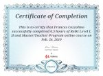 Reiki Master/Teacher Certificate