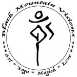 Black Mountain Visions: Art, Yoga, Magick, Love. (circular sigil logo)